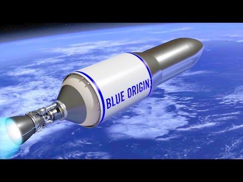 Blue Origin - New Glenn Orbital Launch Vehicle Simulation [1080p]
