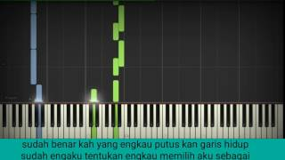 Virzha aku lelakimu piano cover karaoke version(synthesia) Mp3