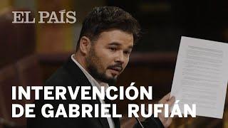 DEBATE de INVESTIDURA: La intervención de GABRIEL RUFIÁN