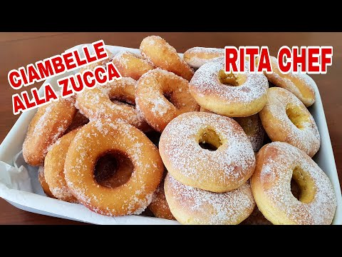 CIAMBELLE ALLA ZUCCA (FRITTE E AL FORNO) di RITA CHEF.