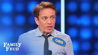 Chris Kattan can't believe THIS ANSWER! | Celebrity Family Feud