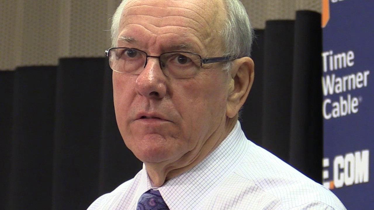Syracuse Basketball Coach Boeheim S Boston University Press Conference