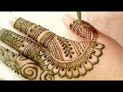 Very Pretty Arabic Mehndi Designs | Easy  Bridal Mehndi Design For Hands