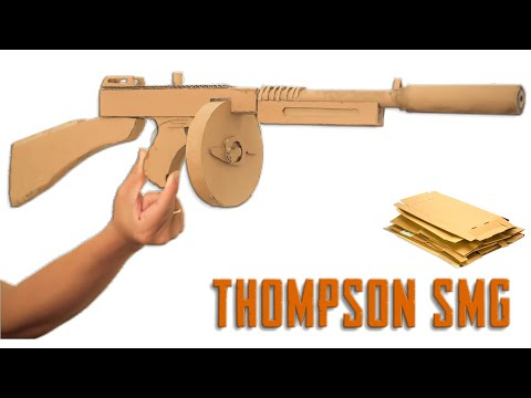 How To Make Thompson SMG - Gun in PUBG From Cardboard | Diy By King OF Crafts