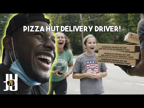 JuJu Smith-Schuster Becomes A Pizza Hut Delivery Driver For A Day!! //JuJu Smith-Schuster
