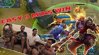 9 MENIT PAKE SUN, TOWER RATA!!! (Mobile Legends)