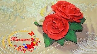 МК РОЗЫ из зефирного ФОАМИРАНА ????Заколка с розами ????Foam Rose