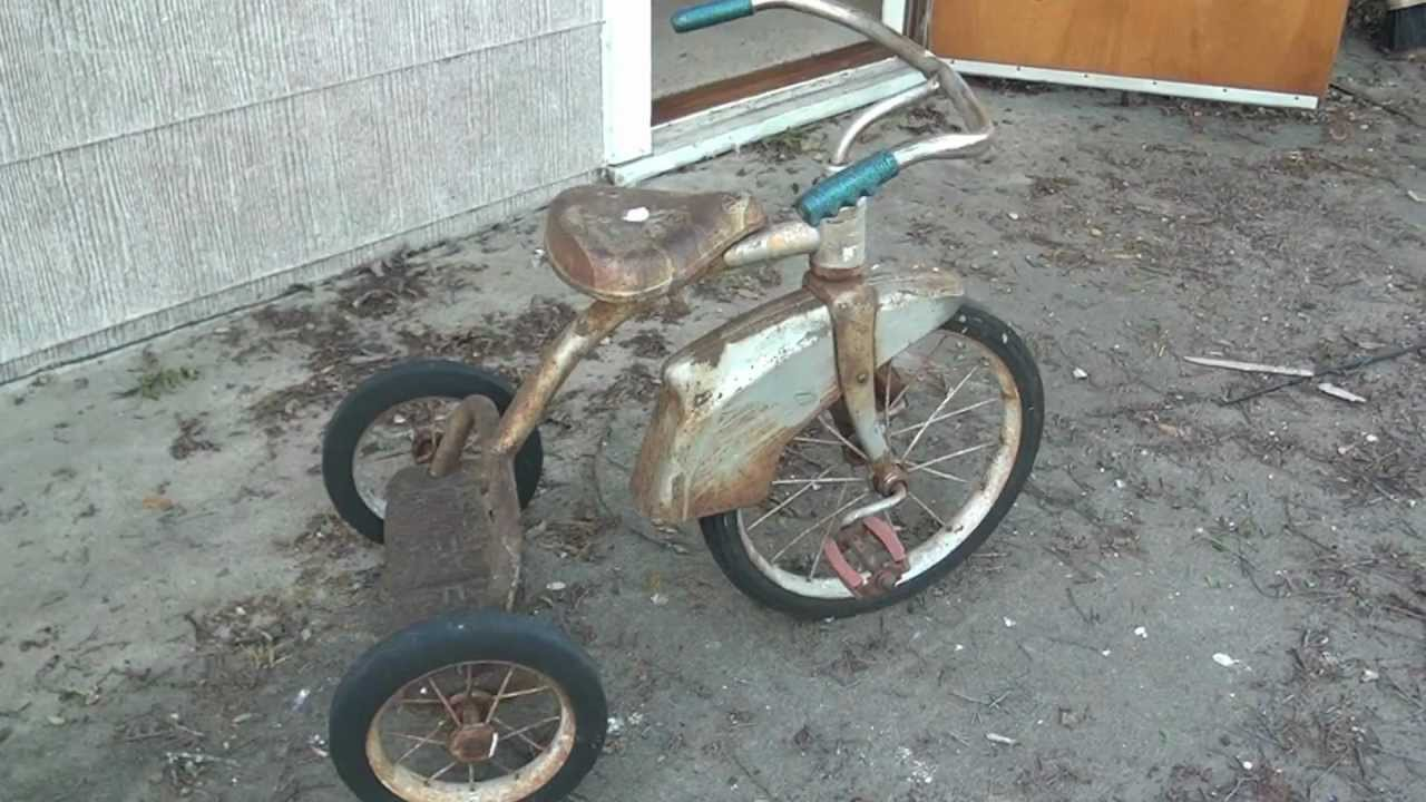 3a7d3048f2c Old Antique Tricycle For Sale - YouTube