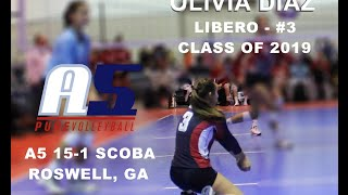 Olivia Diaz - A5 Volleyball - Class of 2019