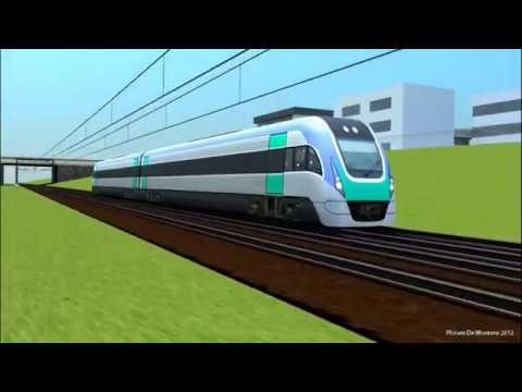 Railway Signalling in 3D - Xtrapolis Stops Vlocity Express