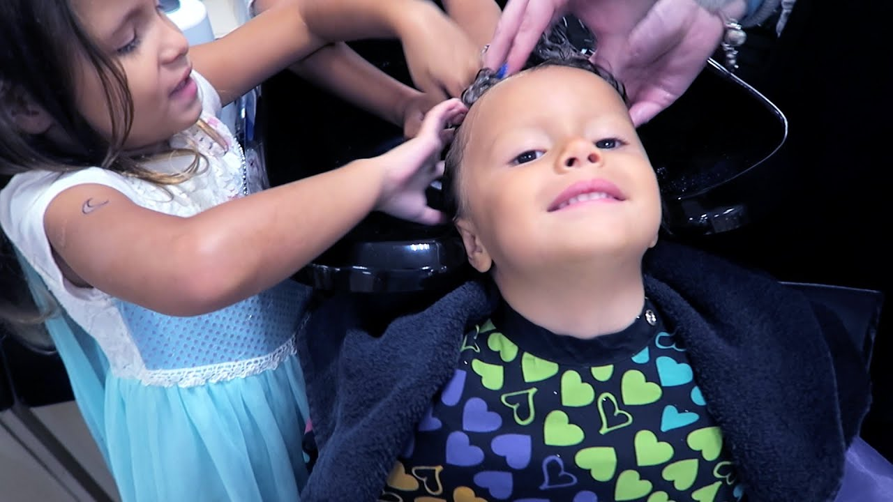 Kids Get Haircut For The First Time Youtube