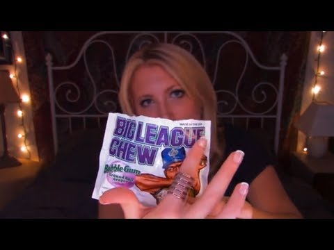 Time Travel Tuesday: Big League Chew - ASMR - Soft Spoken, Tracing, Crinkling, Whispering, Tapping