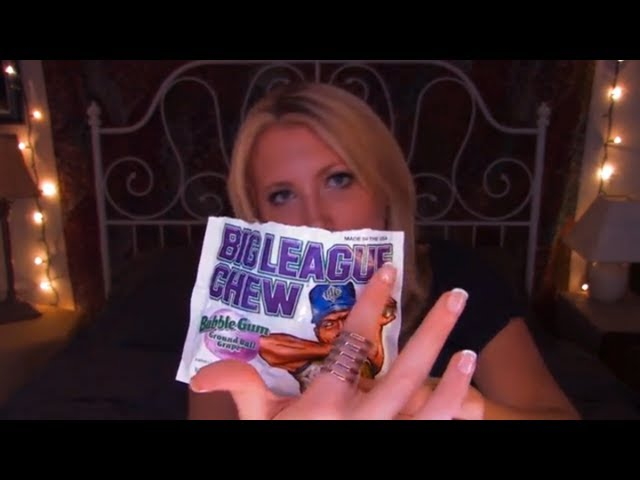 Time Travel Tuesday: Big League Chew - ASMR - Soft Spoken, Tracing, Crinkling, Whispering, Tapping Travel Video