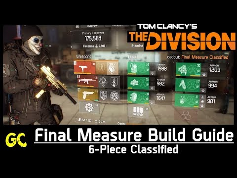 Final Measure Build Guide 6-Piece Classified | The Division