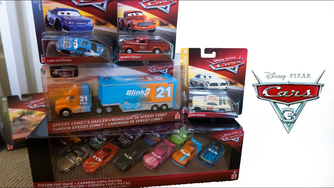 New 2019 Disney Cars 3 Toys Diecast Unboxing 11 Pack Michael Rotor