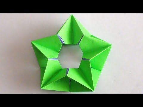 Origami Modular Paper Star How To Make Paper Crafts Video Tutorial