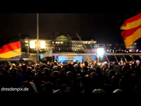 Anti Islamization speech Dresden Germany Dec 1 2014
