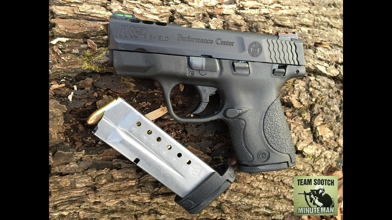 New s w perfomance center m p shield 9mm pistol review for M p ported shield 9mm