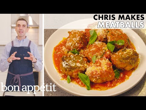 Chris Makes Meatballs | From the Home Kitchen | Bon Appétit