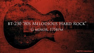 80s Melodious Hard Rock Backing Track in Gm | BT-230