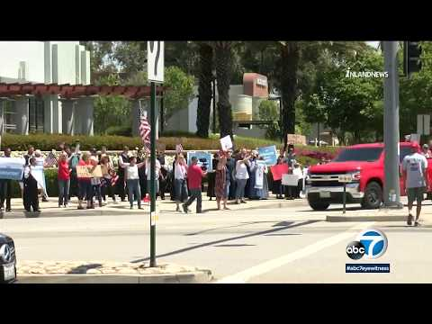 Hundreds Protest Stay-at-home Orders In Rancho Cucamonga | ABC7