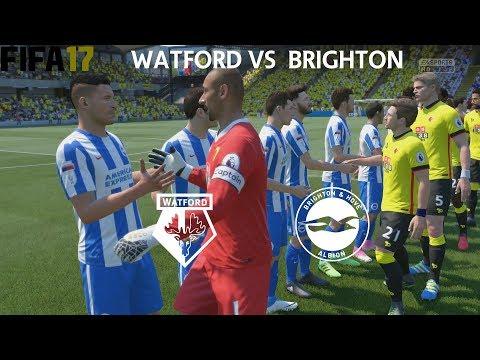 FIFA 17 (PS4 Pro) Watford v Brighton & Hove Albion PREMIER LEAGUE 26/8/2017 SIM MATCH 1080P 60FPS