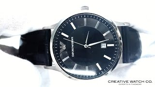 hands on with the men s emporio armani watch ar2411
