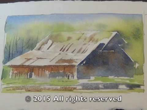 Painting a Barn in Watercolor