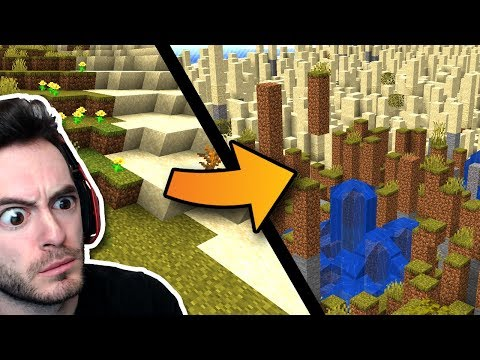 Minecraft But The World Randomly Shifts Around Us