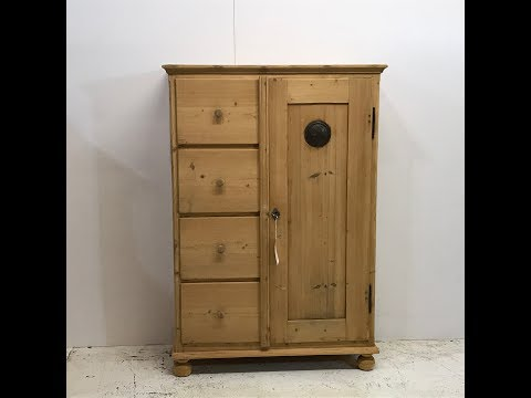Large 19th Century Farmhouse Larder Cupboard for sale - Pinefinders Old Pine Furniture Warehouse