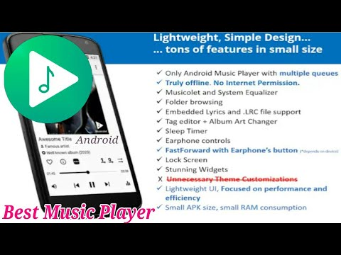 Best Adfree Music Player (Musicolet) for Android - YouTube