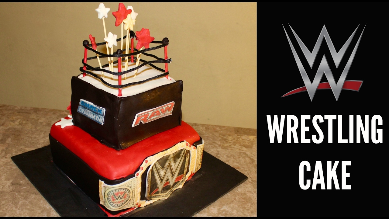 How To Make A Wwe Wrestling Cake Youtube