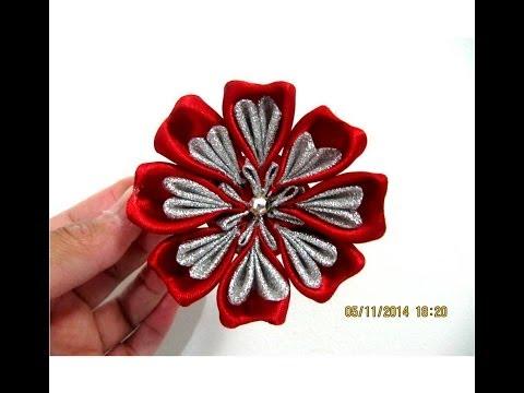 Cinta de Raso grandes Peonía//artesanía//apliques de flores boda decoración WE-07 Hazlo tú mismo 10 un