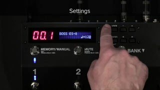 ES-8 Quick Start Chapter 8: Using the External Footswitch to Change the Delay Time