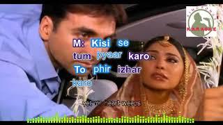 KISISE TUM PYAAR KARO hindi karaoke for Male singers with lyrics