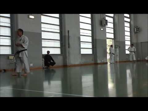 Dimostrazione della Karate shotokan school Pavia - Festa Collegio Valla 31mag15