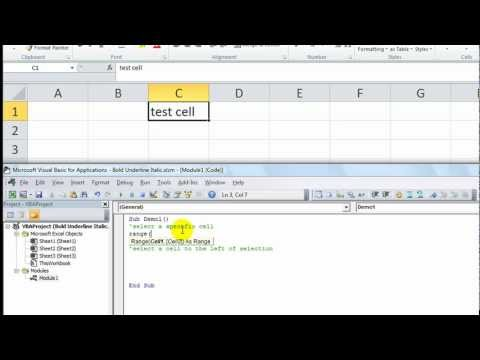 Excel Vba Tips Tricks Have Excel Select Specific Cell Or Cell Relative To Selection