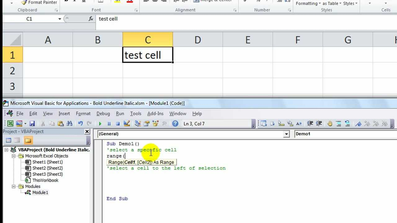 Excel VBA Tips n Tricks #2 Have Excel SELECT Specific Cell or Cell Relative  to Selection