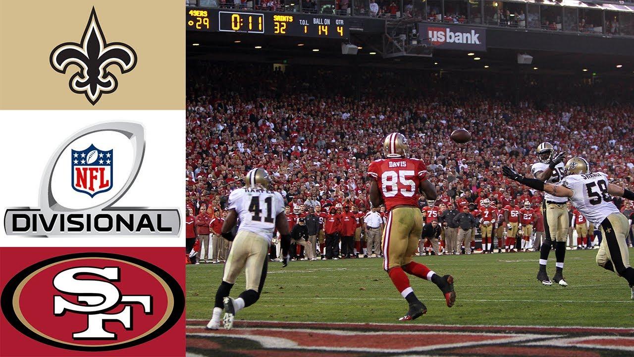 Saints vs 49ers 2011 NFC Divisional - YouTube