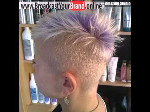 Frauen Platinum Blonde Undercut Frisur Youtube