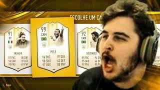 PELÉ 99 ABSURDO! 5 ICONS PRIME NO DRAFT DO FIFA 19 Ultimate Team
