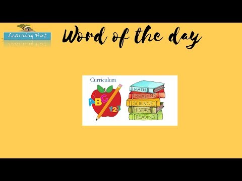 WORD OF THE DAY | CURRICULUM | meaning synonyms and its usage | Learning Hut