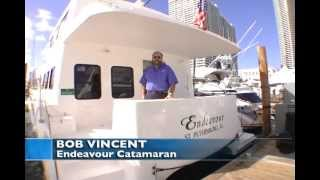 Endeavour Trawler Cat 48 at Miami Boat Show
