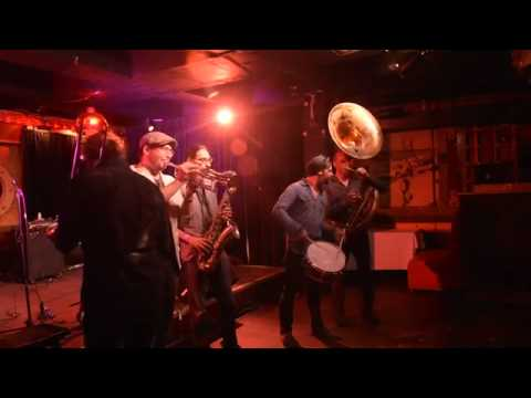 The entrance of the Heavyweights Brass Band- Kensington Market Jazz Festival -Richard Sugarman Video