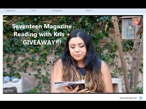 Seventeen Magazine Reading with Kris + Giveaway!!! (closed)