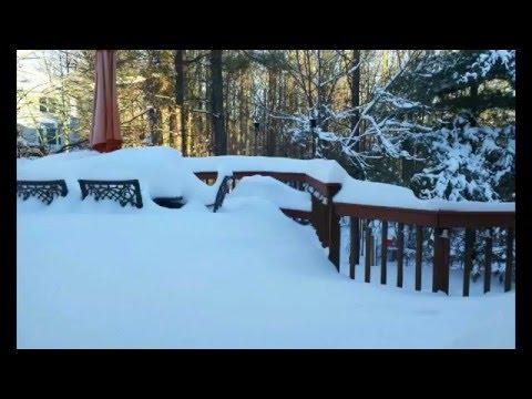 Blizzard 2016 Timelapse, Chantilly Virginia