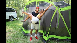 Our First Time Camping | Quarantine Vlog