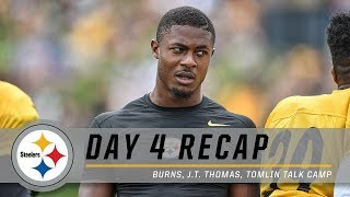 Artie Burns, Coach Tomlin on Day 4 of Training Camp | Pittsburgh Steelers