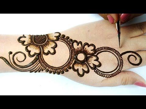 New Arabic Mehndi Design for Hands - आसान शेडेड मेहँदी लगाना सीखे - Latest Mehndi Tricks|BeautyZing
