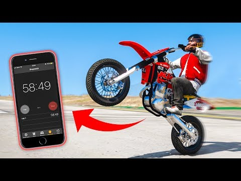 ONE HOUR Wheelie In GTA 5 *World Record*